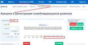reg.ru сервис ставки на перехват домена