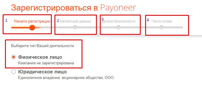 Зарегистрироваться в Payoneer кошелек